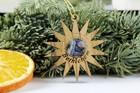 Gwiazda betlejemska z drzewa oliwnego - zawieszka  (1)