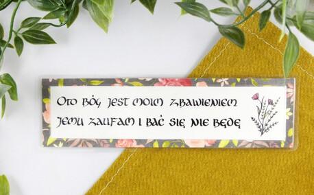 Zakładka do książki - Oto Bóg jest moim zbawieniem... (1)