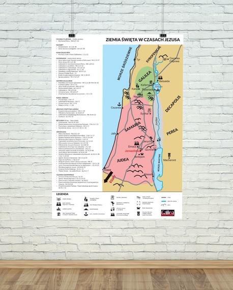 Mapa Ziemi Świętej - A3 - Pakiet 10 szt. (1)