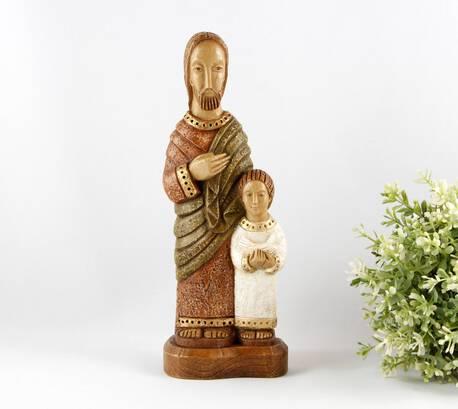 Figurka św. Józefa z Jezusem (1)