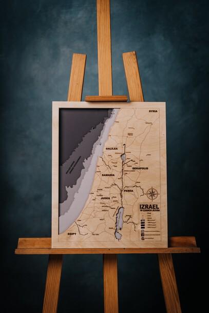 Drewniana mapa Ziemi Świętej (1)