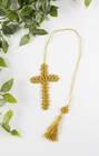 Kordonkowy krzyżyk - złota zakładka (3)