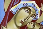 Ikona ręcznie pisana - Matka Boża z Dzieciątkiem (4)