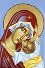Ikona ręcznie pisana - Matka Boża z Dzieciątkiem (3)