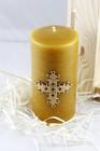 Świeca woskowa z krzyżem królewskim - świąteczna (4)