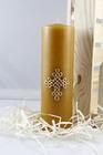 Świeca woskowa z krzyżem plecionym - prezentowa (1)