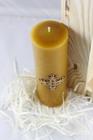 Świeca woskowa z krzyżem królewskim - prezentowa (2)